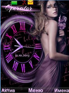 Purple fantasy of love