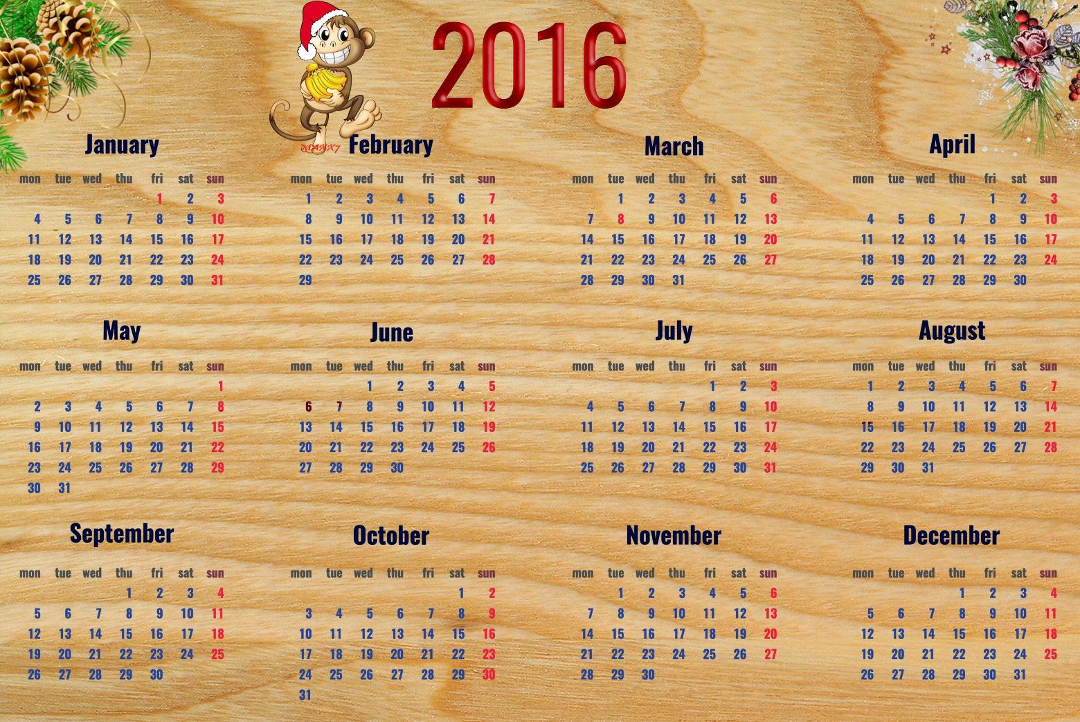 обои рабочего стола календарь октябрь 2016 № 1355616 загрузить