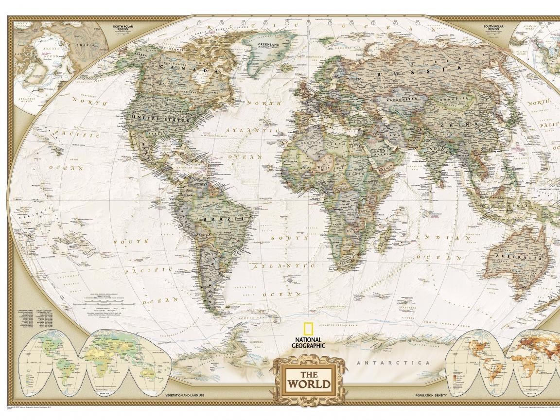 Карта античного мира от National Geographic.