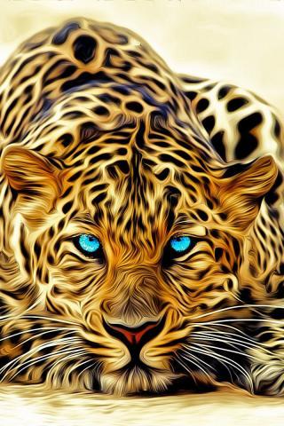 картинки на телефон леопард № 160338  скачать