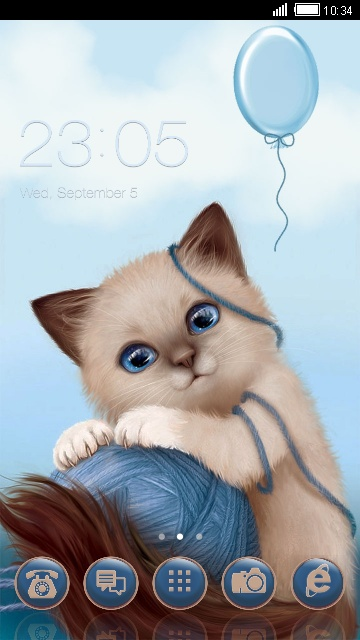 Котик и голубой шарик