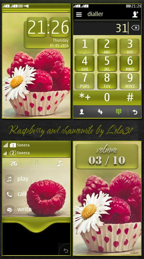 Raspberry and chamomile