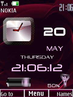 Clock date & battery red Fl1.1