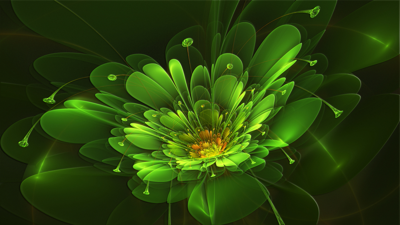 Картинки абстрактные цветы 1
