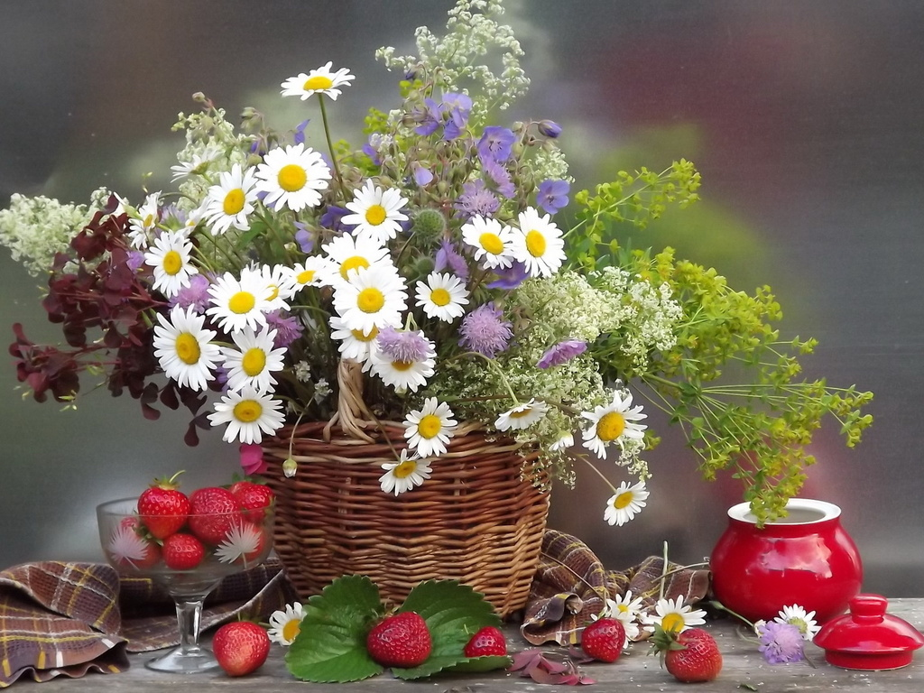 Букеты цветов картинки ромашки 7