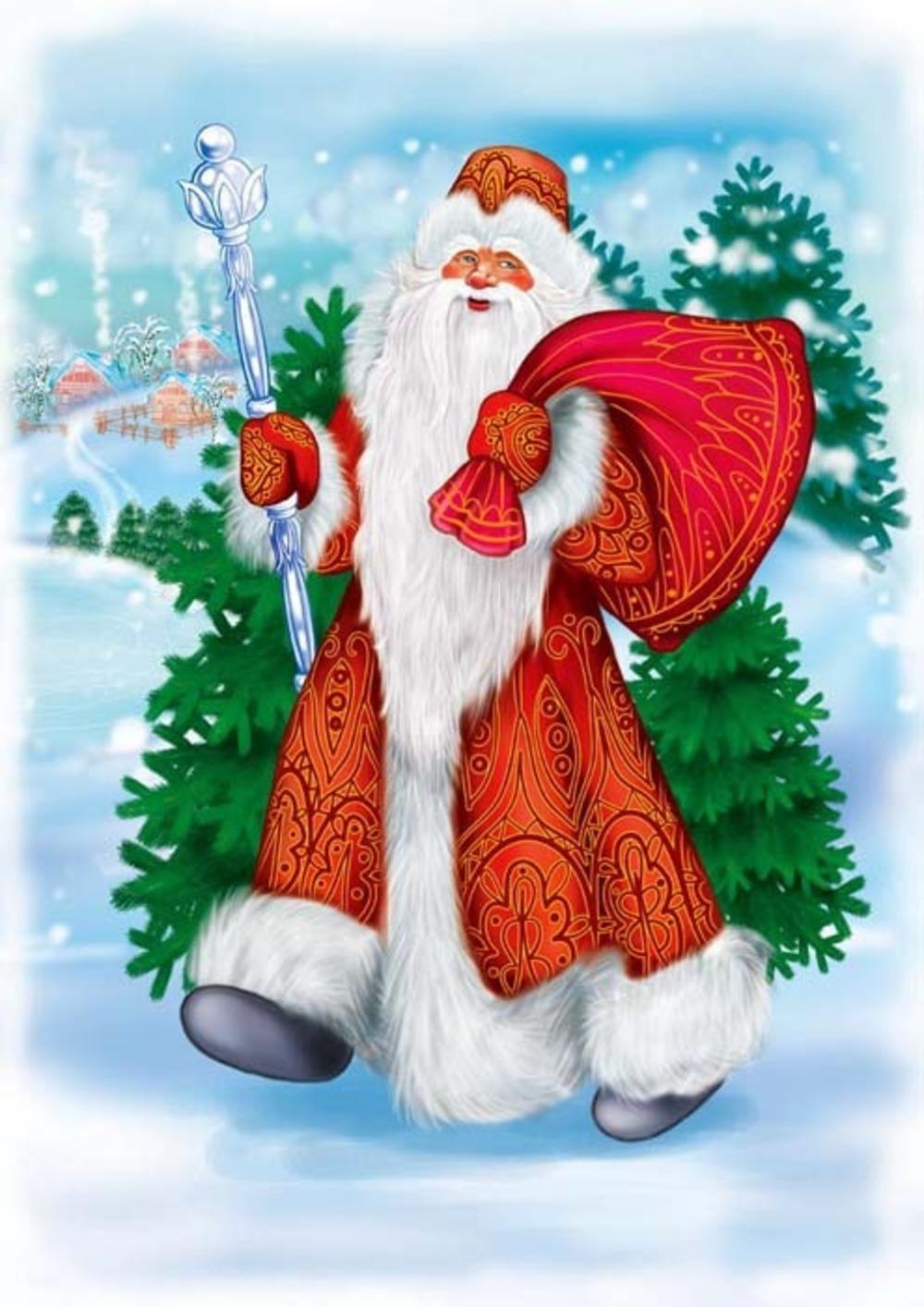 Картинки на новый год деда мороза