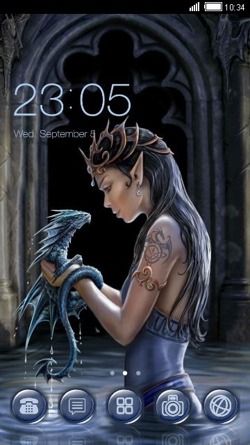 Эльфийка и дракон