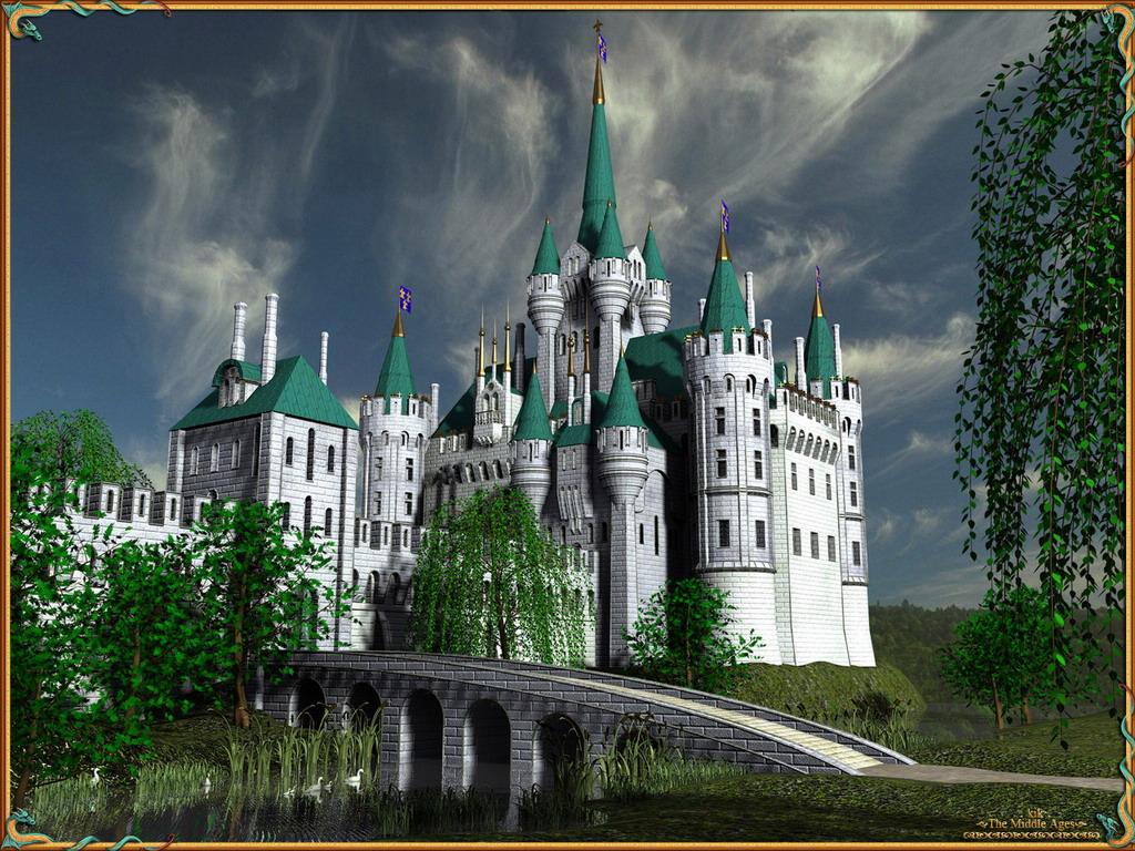 Обои замок нойшванштайн осенью - d0196