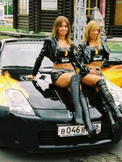 девушки и авто картинки на телефон