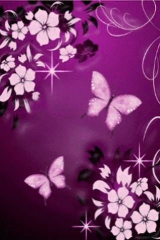 Animated purple butterflies
