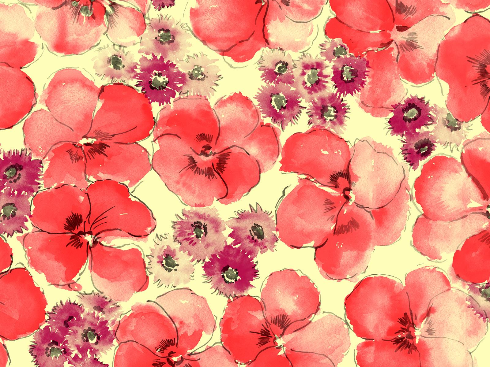 Цветы фон 1600 x 1200