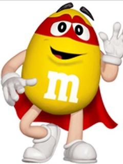 Желтый M&M's - картинка на телефон №779522