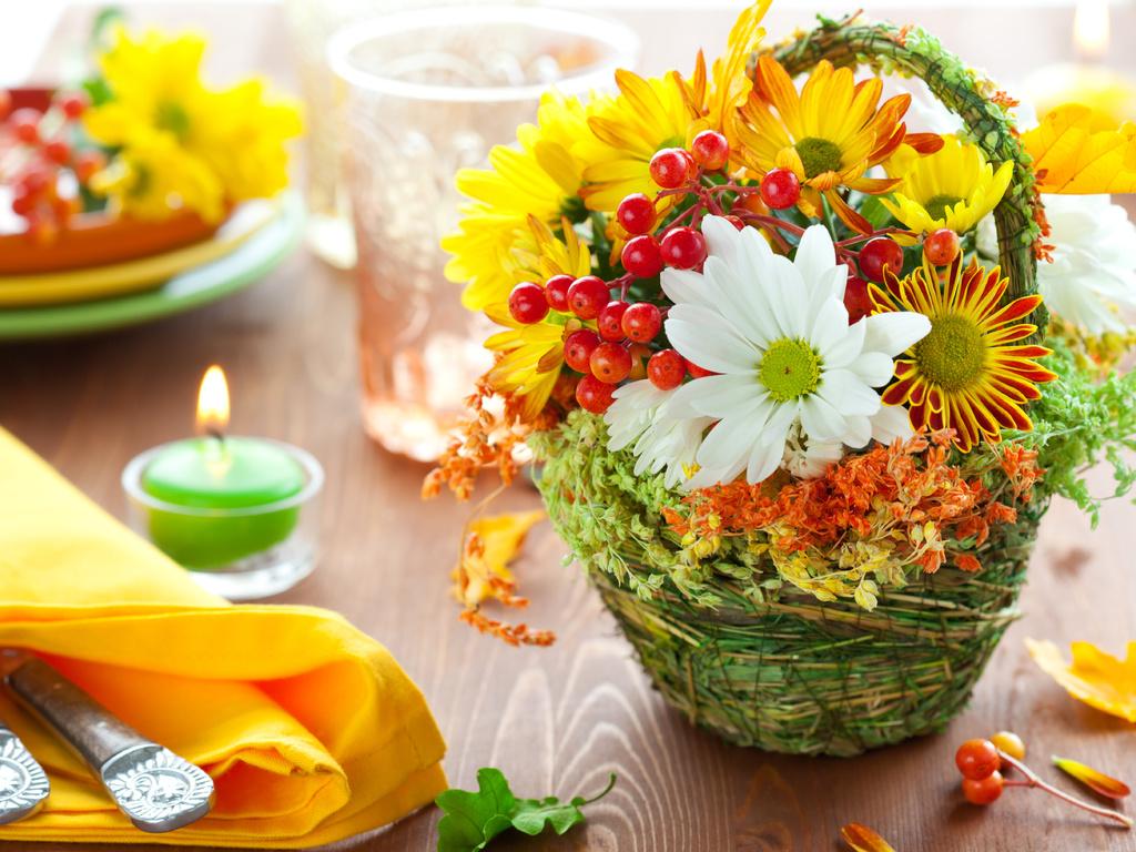 Цветы осенью картинки 4