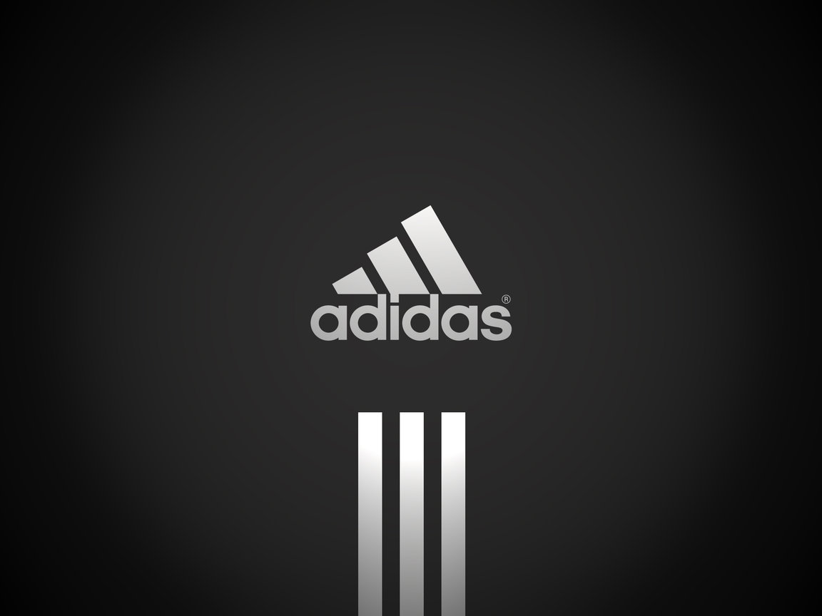 Wallpapers Adidas logo on a black background.