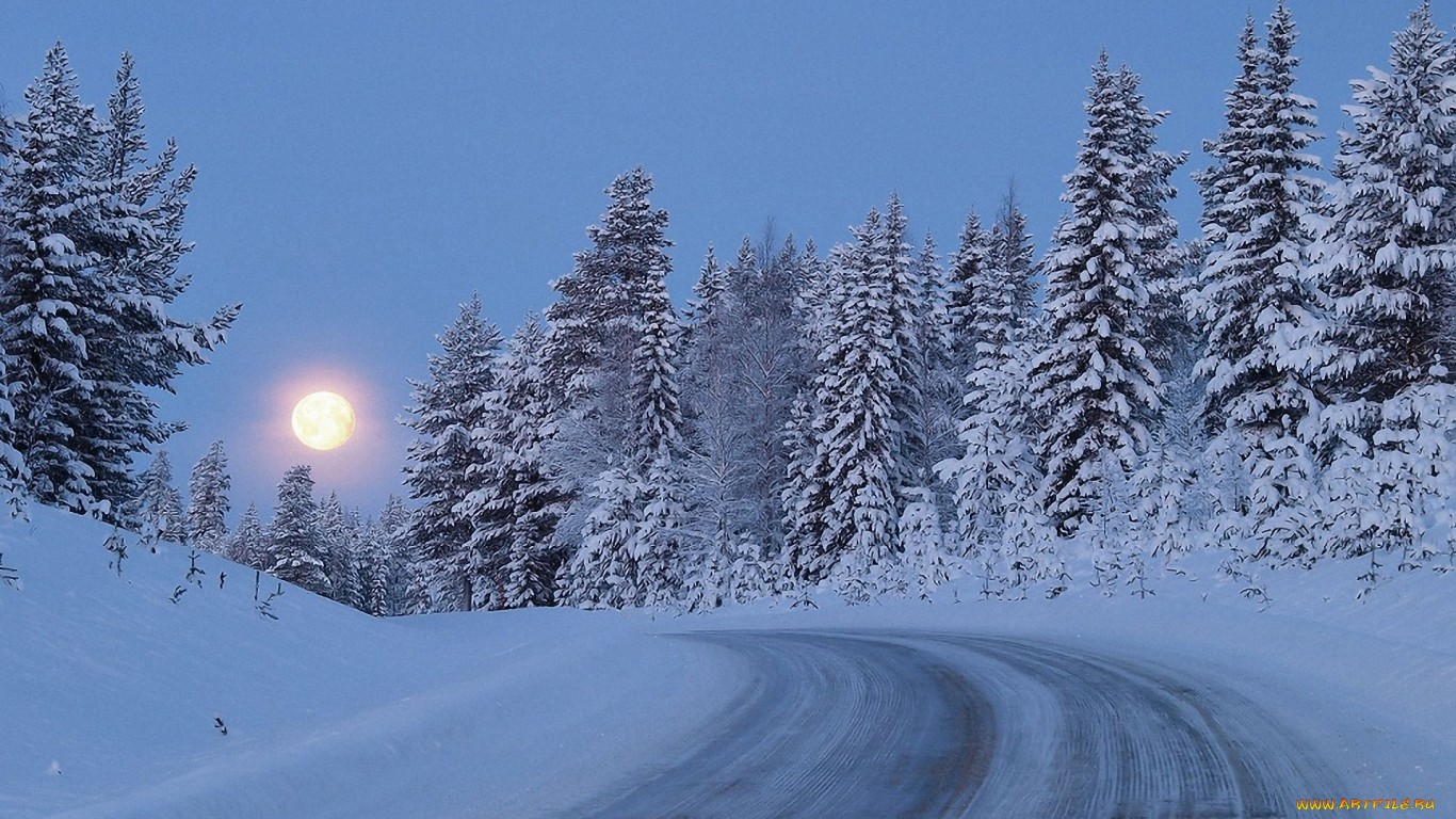 Картинки на рабочий стол 1366х768 про зиму