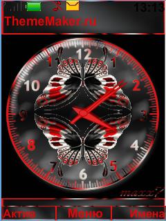 Clock.Butterflies