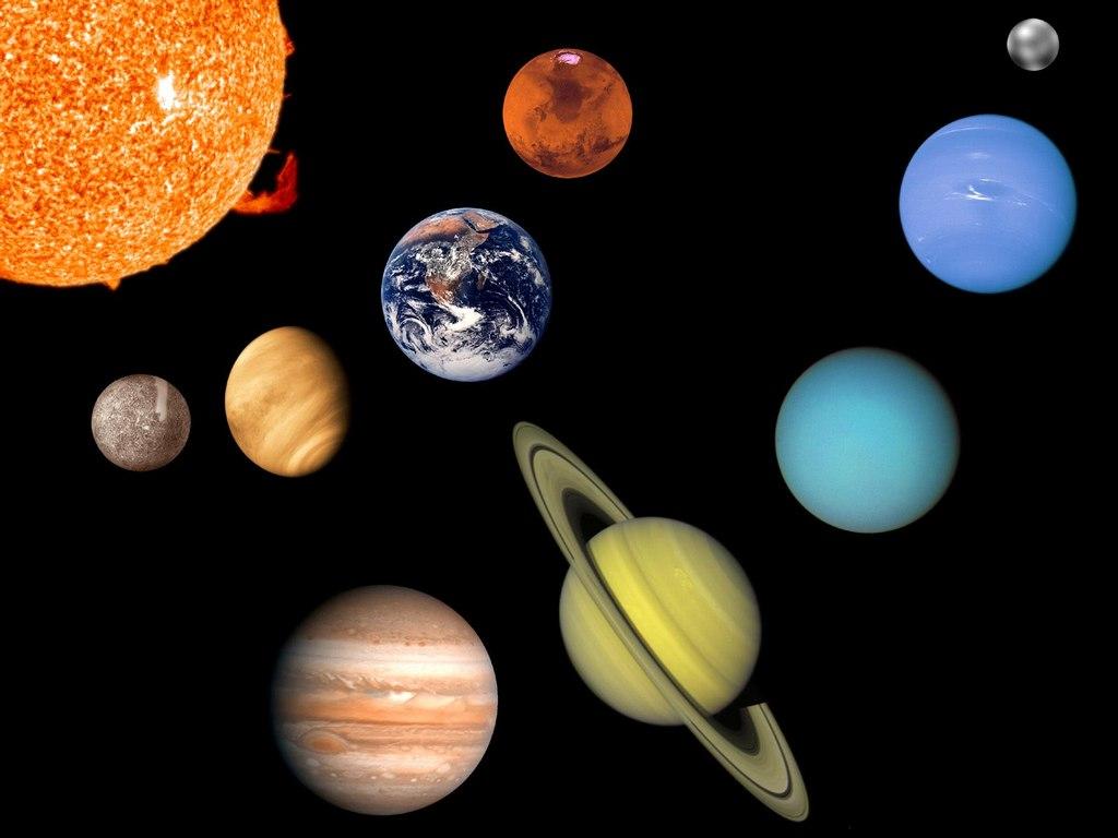 Планеты солнечной системы 1024 x 768