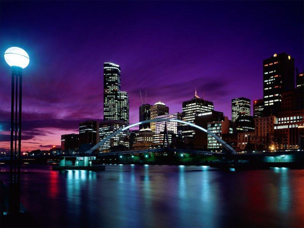 Обои ночной город для рабочего стола