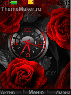 Red roses on a dark