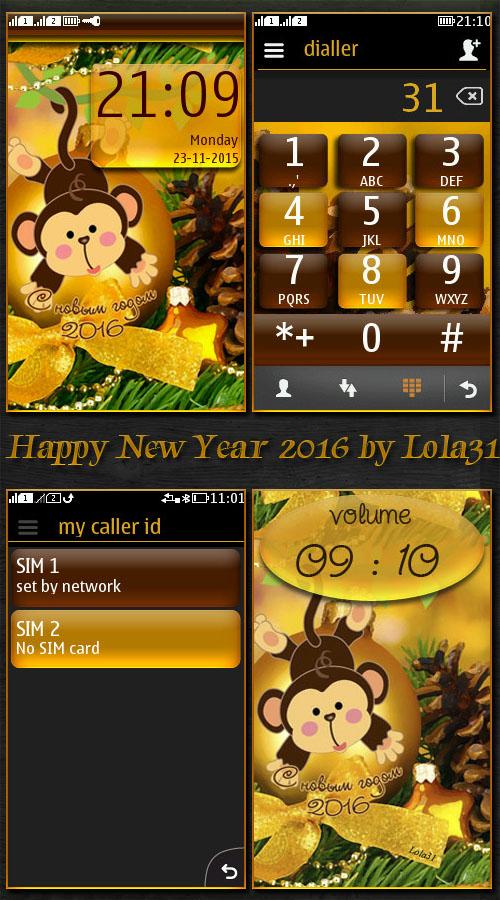 Happy New Year 2016 ( simvol goda obez'yana )