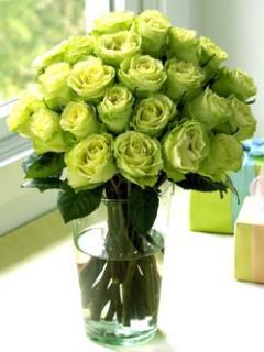 Букет из роз зеленых