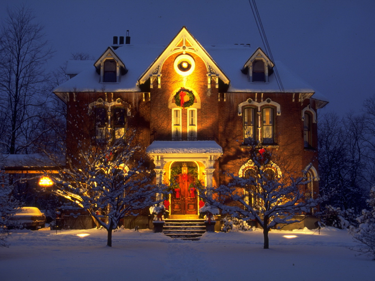 Рождественский дом своими руками