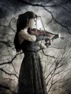 девушка со скрипкой картинки