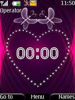 Сердце+часы