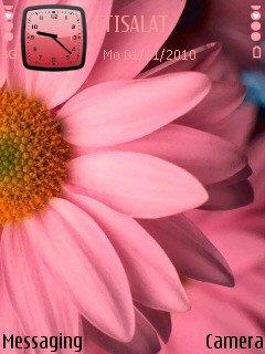 Нежно розовый цветок