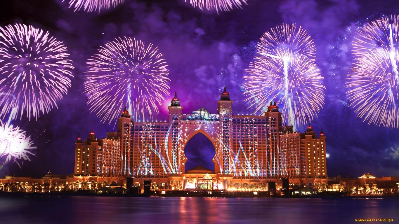 Дубаи (ОАЭ) - обои на рабочий стол 1366x768
