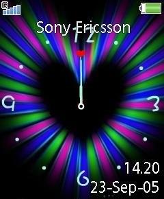 Flash Heart Clock