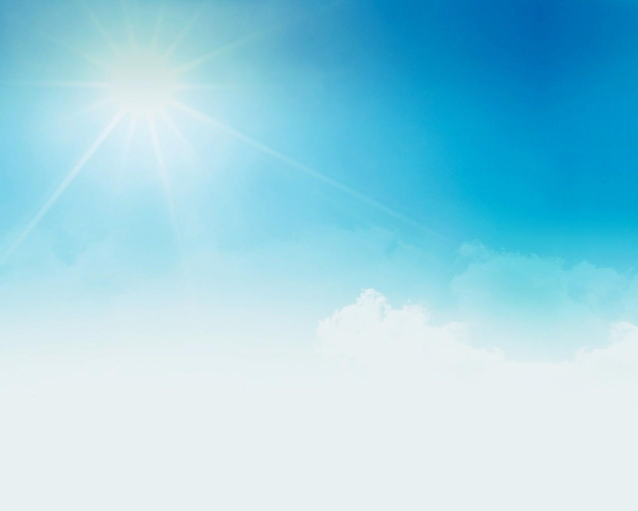 обои небо и солнце на рабочий стол