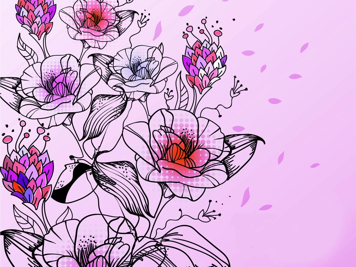 цветочный рисунок: