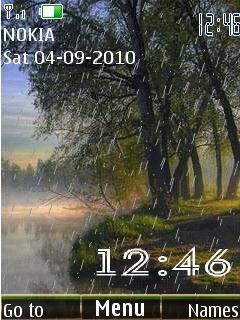 Rain clock 12picture анимация дождя,картинка меняется каждый час