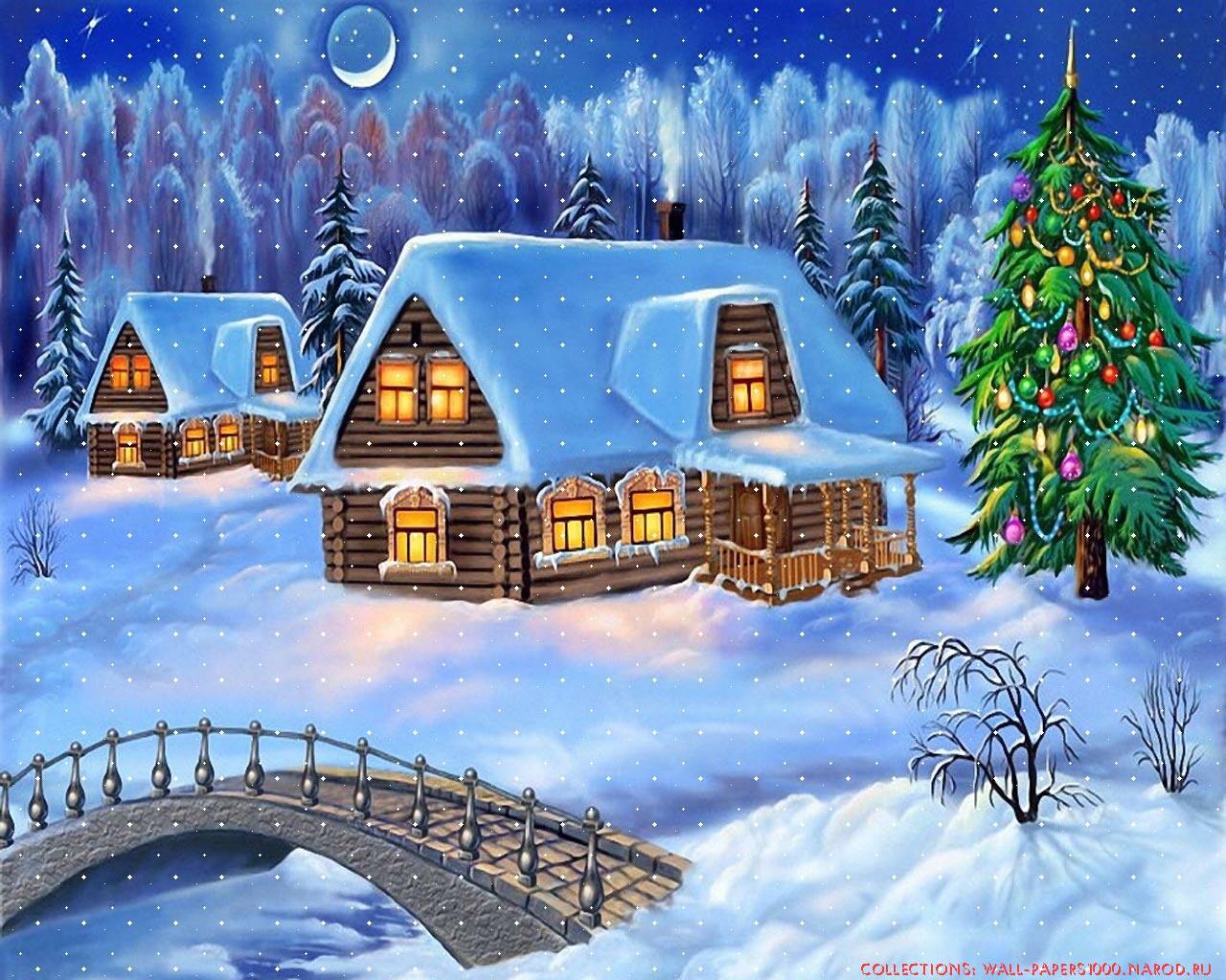 Зима обои на рабочий стол 1280x1024 №381538