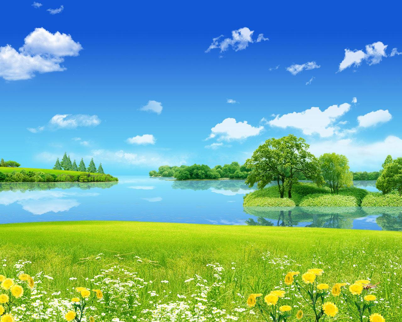 Природы райские места 1280 x 1024