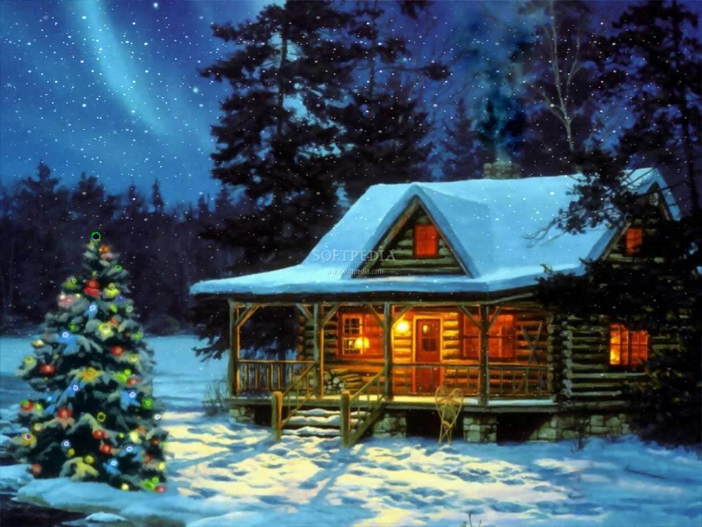 Зимний домик 1024 x 768