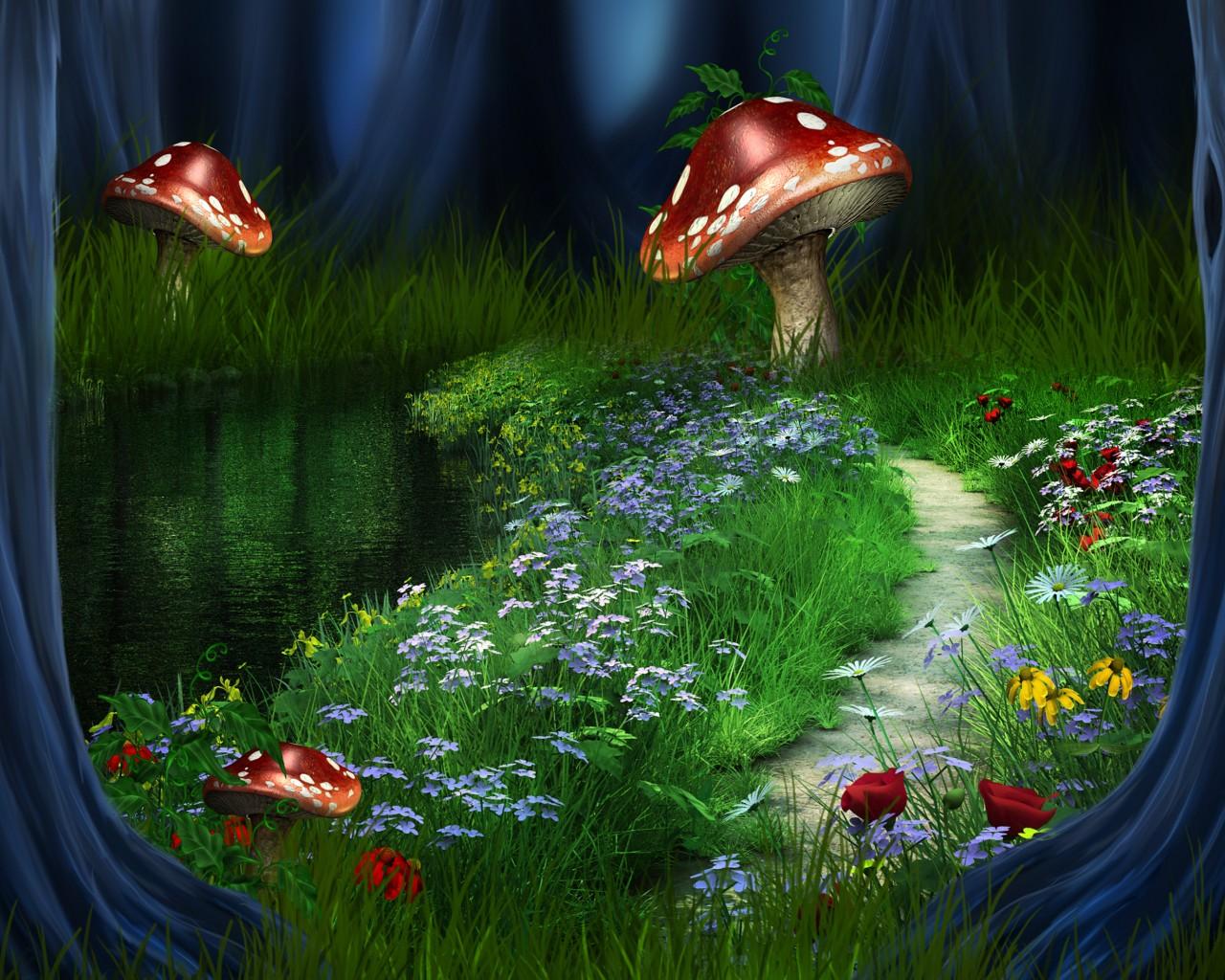 Сказочный лес - обои на рабочий стол ...: www.mobilmusic.ru/wallpaper.php?id=1187983