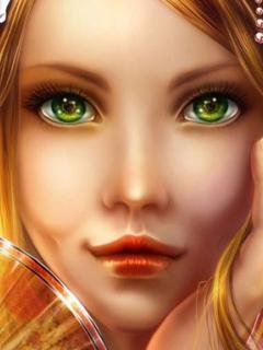 картинки зеленые глаза девушки