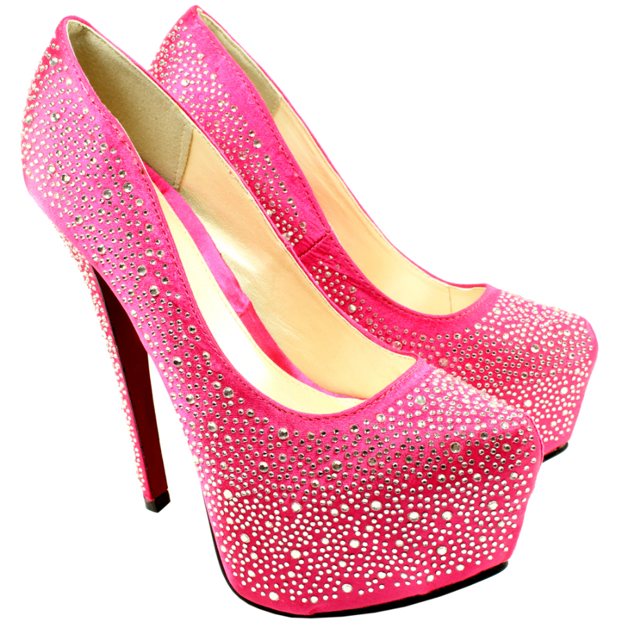 Гламурные туфли на шпильке