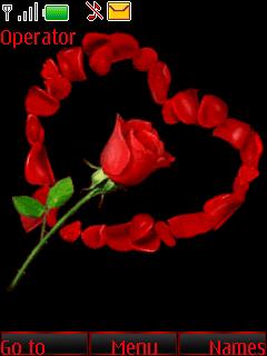Я тебя люблю(лепестками роз)
