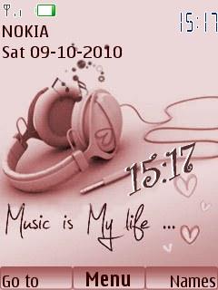 Music is my life clock