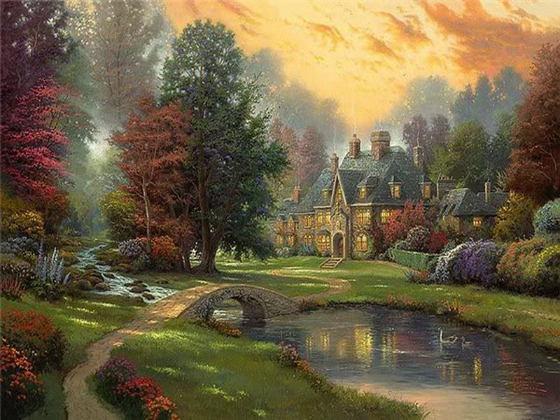 Пейзаж в paint