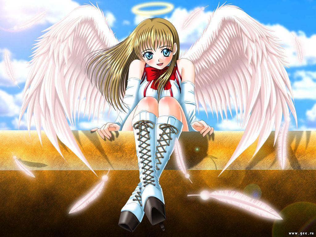 картинки аниме с крыльями: