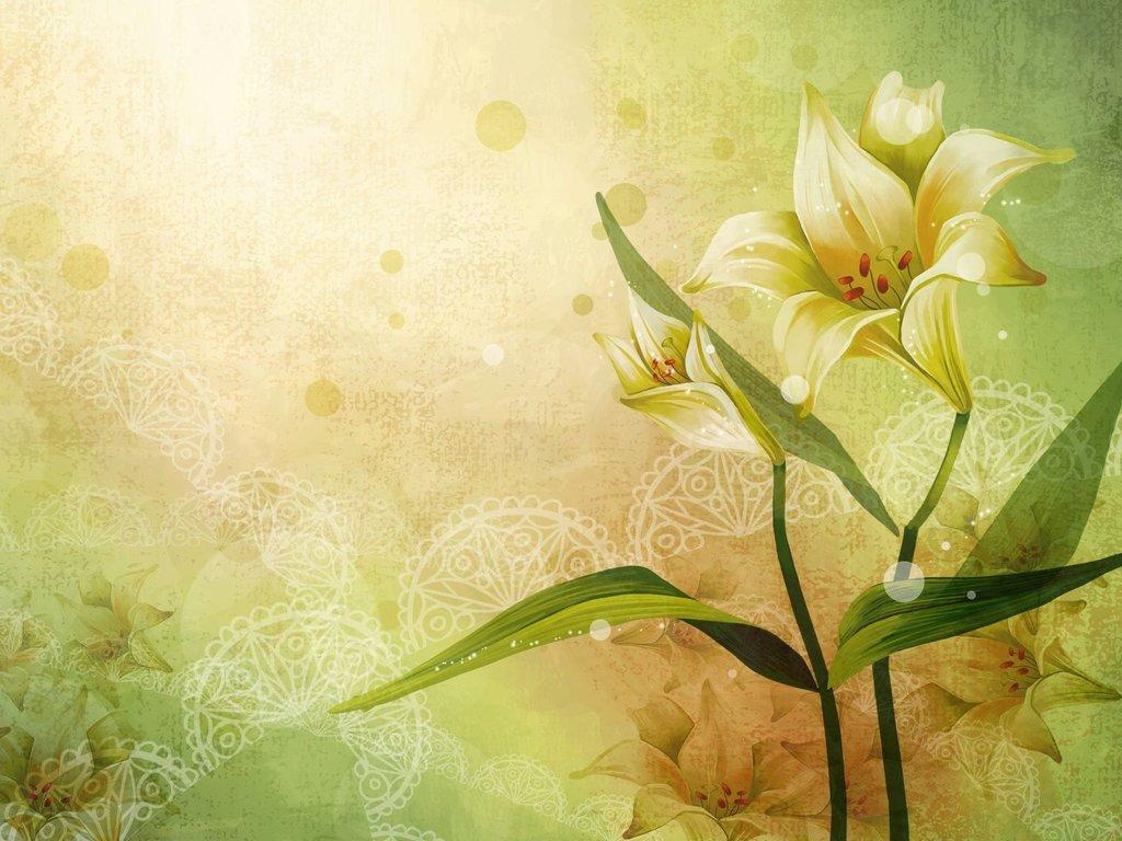 Арт картинки цветы 3