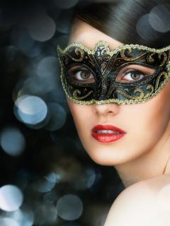 красивые фото брюнетка в маске