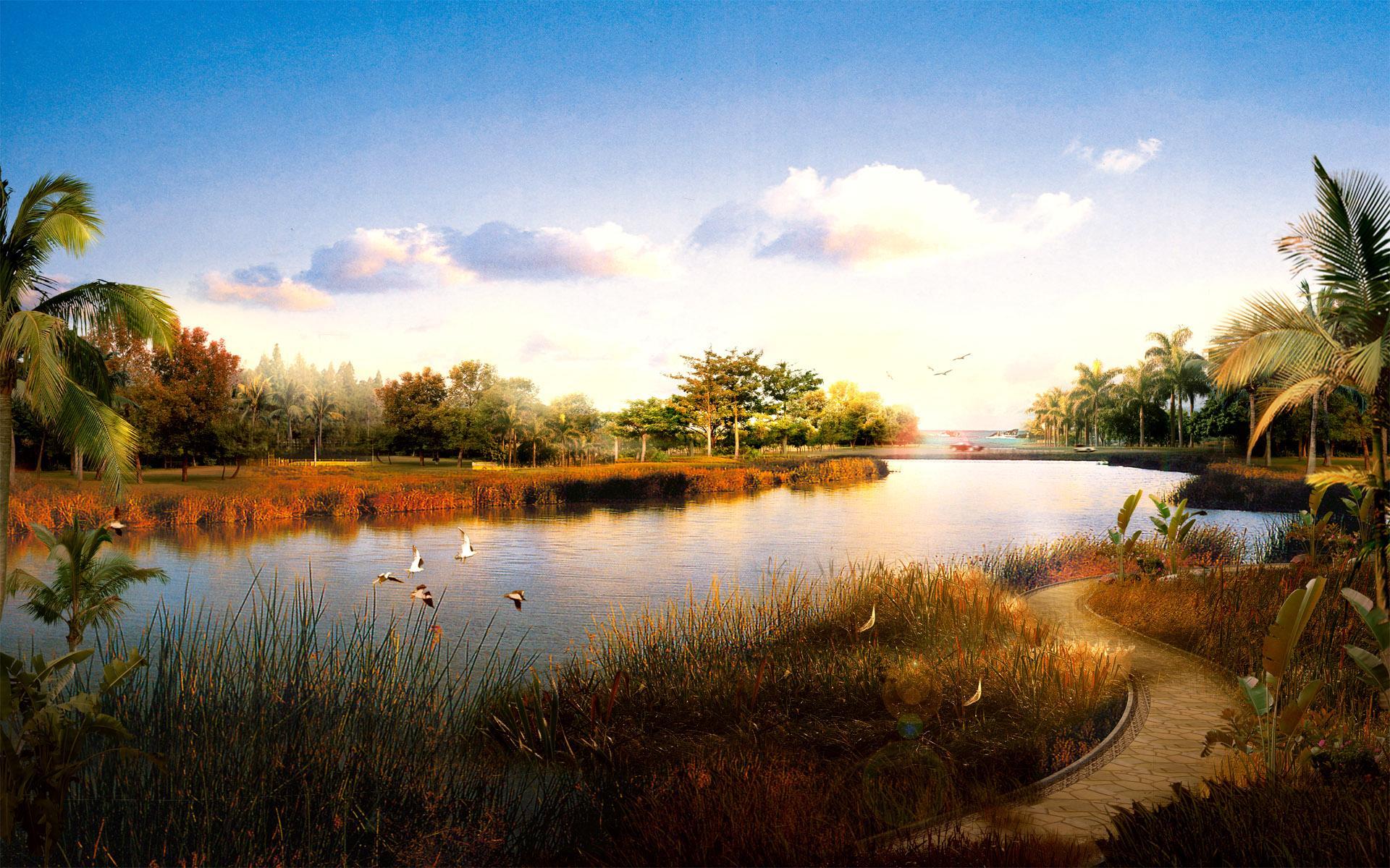 Современные пейзажи китая обои на