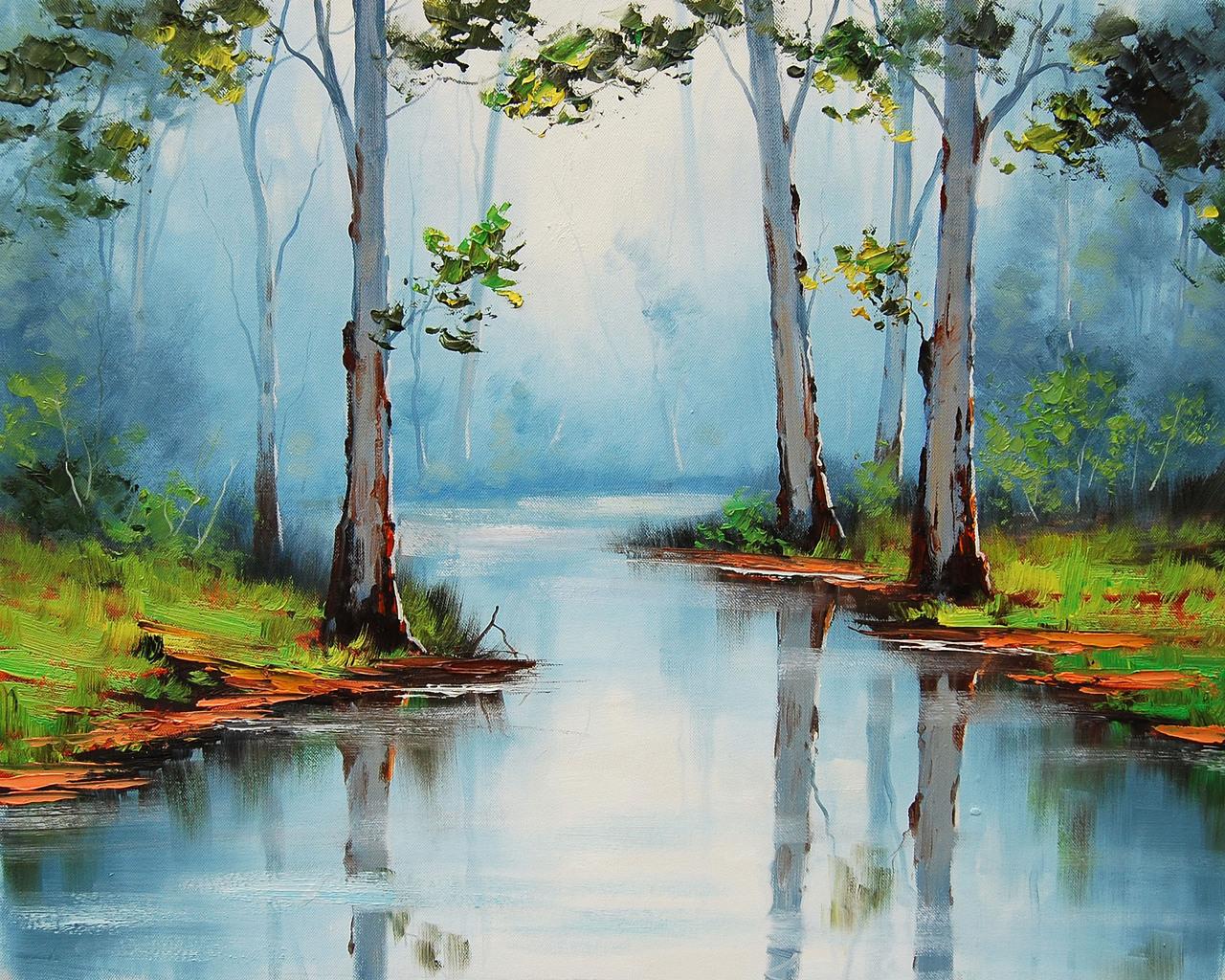 Река рисунок 1280 x 1024