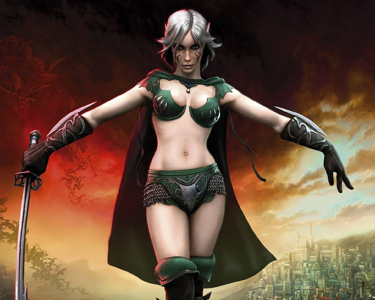 Обои SpellForce 2 Shadow Wars: SpellForce, Девушки из игр.