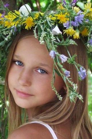 Девочка - лето - Картинка на мобильный.